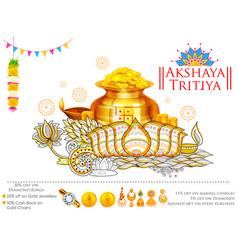 akshay tritiya celebration vector image