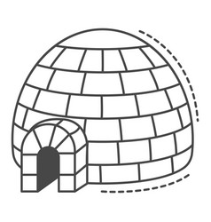 alaska igloo icon outline style vector image