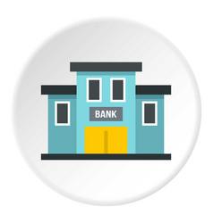 Bank building icon circle vector