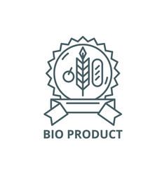 bio product line icon bio product outline vector image