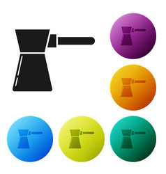 black coffee turk icon isolated on white vector image