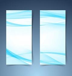 Blue smooth swoosh line border banner layoutjpg vector image
