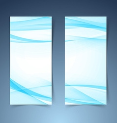 Blue smooth swoosh line border banner layoutjpg vector