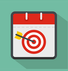 calendar target icon flat style vector image