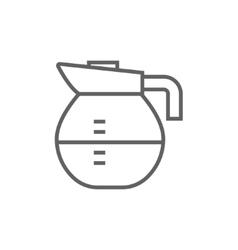 Carafe line icon vector image