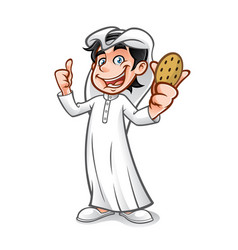 cartoon arabian kid vector image