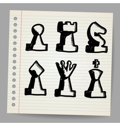 Chess pieces vector