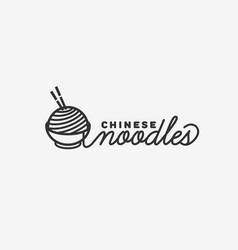 Chinese noodles logo vector