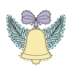 Christmas bell decoration vector