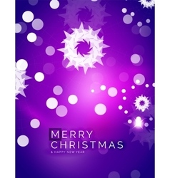 Christmas purple abstract background with white vector image