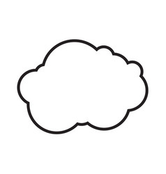 cloud sign vector image