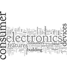 Cool designs in consumer electronics vector