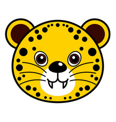 cute cheetah cute animal faces vector image