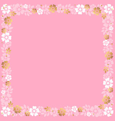 decorative square frame of white and golden vector image