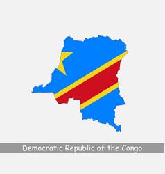 Democratic republic congo map flag vector