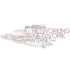 digital networking word cloud concept vector image