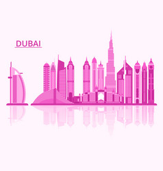dubai city vector image