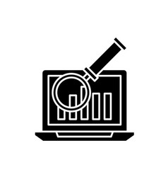 electronic accounting system black icon vector image
