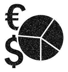 Financial Pie Chart Grainy Texture Icon vector
