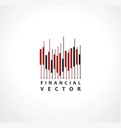 financial stock exchange market charts logo design vector image
