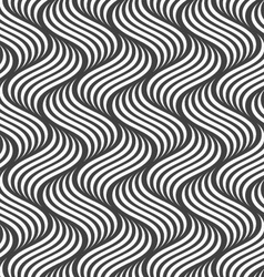 Flat gray with striped ripples vector image