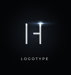 futurism style letter h minimalist type for vector image