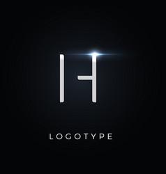 futurism style letter h minimalist type vector image