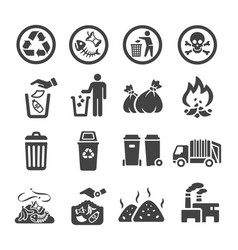 garbage icon vector image