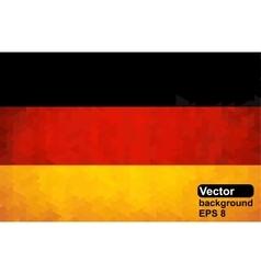 German flag of geometric shapes vector image