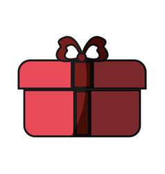 Gift box ribbon vector