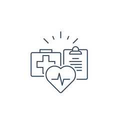 Health care services thin line icon medical vector
