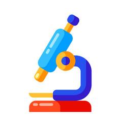 Icon school microscope in flat style vector