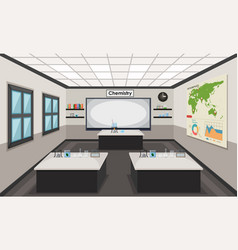 interior of a chemistry lab vector image