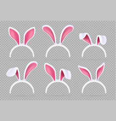 isolated realistic rabbit ears funny easter bunny vector image