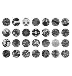 japan emblem and symbol set vector image