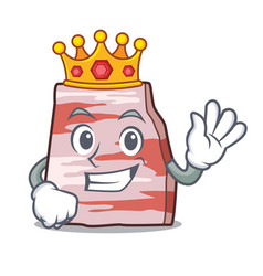 King pork lard mascot cartoon vector