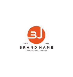 Letter bj logo design vector