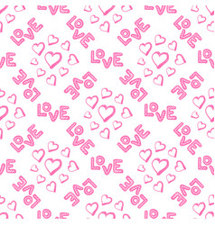 love seamless pattern with hearts vector image