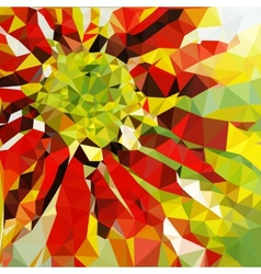 low poly summer background vector image