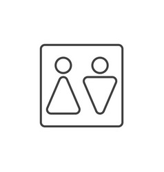 man and woman toilet outline icon - wc vector image