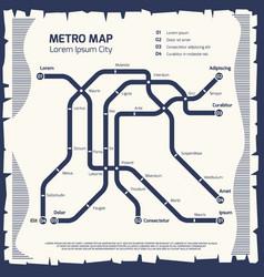 Metro subway map - subway poster design vector