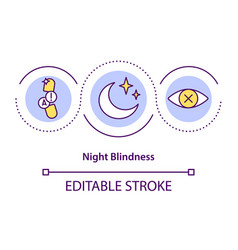Night blindness concept icon vector