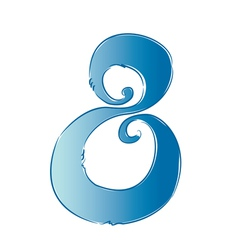 number 8 vector image