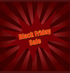 on day black friday rays background vector image