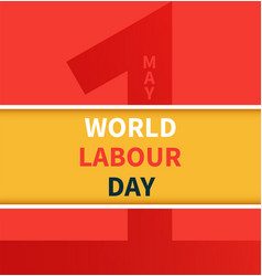 one may labour day banner vector image