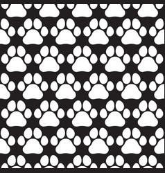 Paw print seamless pattern vector