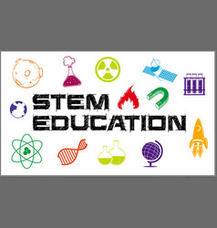 Poster design for stem education vector