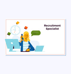 Recruitment concept for web page openly greeting vector