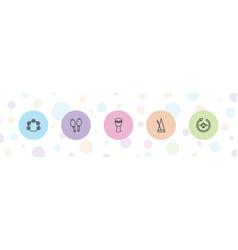 Rhythm icons vector