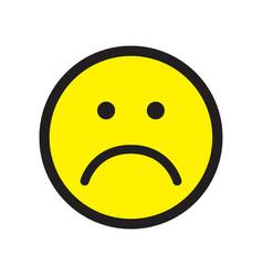 Sad face icon unhappy face symbol vector